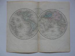 VIEUX PAPIERS - CARTE : Planche 1 Extraite Du Petit Atlas Universel De Géographie Moderne Par M. Achille MEISSAS - Cartes Géographiques