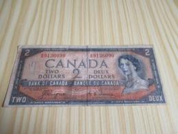 Canada.Billet 2 Dollars Elizabeth II 1954. - Canada