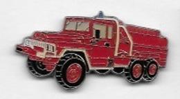 Pin's  Sapeurs  Pompiers  Camion  Rouge  Verso  B . I - Pompiers