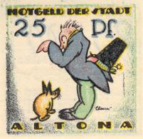 Serie Notgeld A 2x 25 2x 50 2x 75pfg.Stadt Altona UNC (I) - Lokale Ausgaben