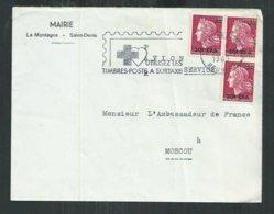 Réunion: Rare Affranchissement à 60f CFA Pour La Russie; Saint Denis Pour L'ambassade De France à Moscou - Réunion (1852-1975)