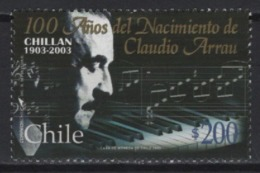 Chile (2003) Yv. 1659  /  Music - Musique - Musical Instruments - Piano - Musica