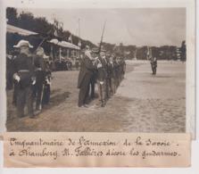 50 ANNEXION DE LA SAVOIE A CHAMBÉRY M FALLIÈRES DECORE LES GENDARMES  18*13CM Maurice-Louis BRANGER PARÍS (1874-1950) - Places