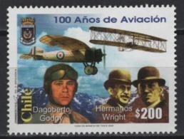 Chile (2003) Yv. 1668  /  Aircraft - Avion - Airplane - Flugzeug - Aviation - Wright - Dagoberto Godoy - Aviones