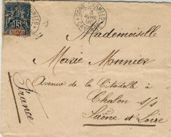1896- Enveloppe Affr. 15 C N° 35 Oblit. CORR. D'ARMEES / CAYENNE   ( Superbe ) - Covers & Documents