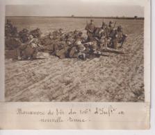 MANOEUVRE DE TIR DU 106 INFANTERIE EN NOUVELLE TENUE 18*13CM Maurice-Louis BRANGER PARÍS (1874-1950) - Guerra, Militares