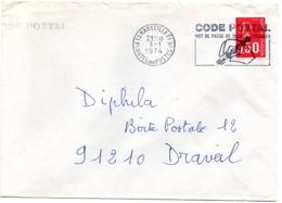 BOUCHES Du RHONE - Dépt N° 13 = MARSEILLE 01 HOTEL Des POSTES 1974 =  FLAMME SECAP Illustrée ' CODE POSTAL / Mot Passe' - Zipcode