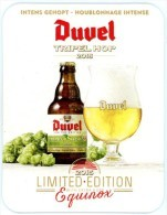 Duvel Tripel Hop 2015. Limited Edition. With Extra Hops Equinox. Intens Gehopt. Houblonnage Intense. - Portavasos