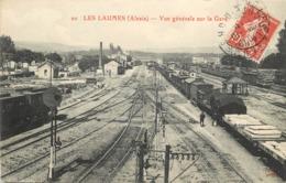 LES LAUMES (Alésia) - Vue Générale De La Gare. - Gares - Avec Trains