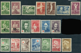 Finland 1946-49. 6 Complete Sets (20 Stamps) (not Mint - Lightly Hinged) - Finland