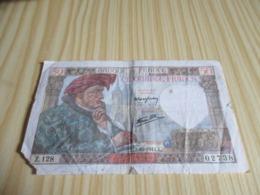 France.Billet 50 Francs Jacques Coeur 02/10/1941. - 1871-1952 Anciens Francs Circulés Au XXème