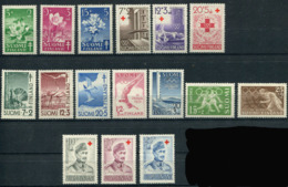 Finland 1950-52. 6 Complete Sets (16 Stamps) (not Mint - Lightly Hinged) - Finland