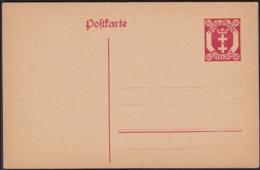 Germany 1921 - DANZIG. Postal Stationery, Ganzsache MiNr. P 12. - Deutschland
