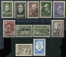 Finland 1944-52. 11 Stamps (not Mint - Lightly Hinged) - Finland
