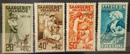 SARRE / SAARGEBIET 1927 - MNH - Mi 122, 123, 124, 125 - Volkshilfe, Pflegedienste - 1920-35 Société Des Nations