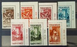 SARRE / SAARGEBIET 1931 - MNH - Mi 151, 152, 153, 154, 155, 156, 157 - Volkshilfe, Gemälde - Datierte Eckrandstücke!! - 1920-35 Société Des Nations