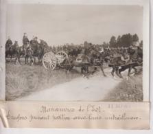 MANOEUVRES DE L'EST DRAGONS PRENANT POSITION AVEC LEUR MITRAILLEUSES  18*13CM Maurice-Louis BRANGER PARÍS (1874-1950) - Guerra, Militares