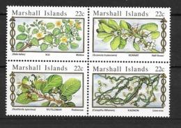 1985 MNH Marshal Mi 58-61, Postfris ** - Medicinal Plants