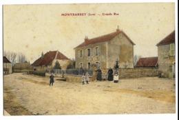 MONTBARREY (Jura) Grande Rue (colorisée) - Frankrijk