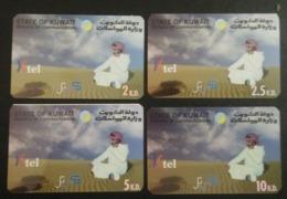 Kuwait 4 Different Telephone Card - Telefoonkaarten
