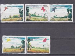 CAMBODIA 2001, MI 2232-2236  RAINBOW, , FLUGDRACHEN,  SET 5 V. MNH - Camboya