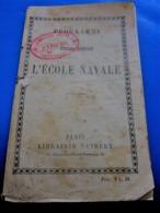 WW1-L'ECOLE NAVALE COMMISSARIAT CENTRAL CARCASSONNE 3 FEV 1914 Militaria Document PROGRAMME CONDITIONS ADMISSION - Documenti