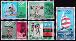 1968, Belgien, 1513/17,  MNH **, Olympische Sommerspiele, Mexiko-Stadt. - Belgien