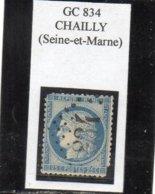 Seine-et-Marne - N° 60C (défect) Obl GC 834 Chailly - 1871-1875 Cérès