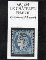 Seine-et-Marne - N° 60A (déf) Obl GC 954 Le-Châtelet-en-Brie - 1871-1875 Cérès