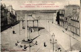 CPA La Dasse Normandie..CHERBOURG - Place De La Republique Et La Rade (245568) - Cherbourg