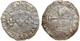 FRANCE - Charles VII [1422-1461] - Blanc Aux Lis Accotés - Bourges (Dup. 470 ; 2,46 G) - 987-1789 Monnaies Royales