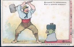 POSTAL MILITAR - ANTI PALUDISMO - EN SANTE TE CONSERVERAS PAR LA QUININE SUREMENT - Guerra 1914-18
