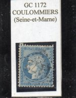 Seine-et-Marne - N° 60A (clair) Obl GC 1172 Coulommiers - 1871-1875 Cérès