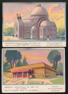 LIEGE   2 KAARTEN   EXPOSITION INTERNATIONALE DE LIEGE 1930 - Luik