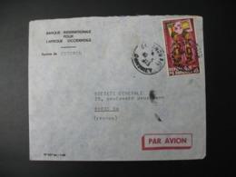 Enveloppe  Dahomey  1973  Banque Internationale Pour L'Afrique Occidentale  Pour La France Agence De Cotonou - Bénin – Dahomey (1960-...)