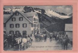 OUDE POSTKAART ZWITSERLAND - SCHWEIZ - SUISSE -     HOTEL TIEFENGLETSCH - POST - POSTKOETS - VS Wallis