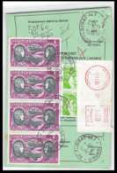 50828 Floirac Gironde Poste Aérienne PA N°47 Boucher Hilsz X 4 Airmal Ordre De Reexpedition Definitif France - Luftpost