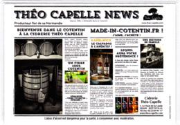 Carte (totalement Imprimée) Cidrerie, Distillerie Théo Capelle, 50 Sotteville, Cidre, Calvados, Manche, Cotentin, Âne - Autres