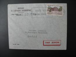 Enveloppe  Haute-Volta 1962  Banque De L'Afrique Occidentalesiège Ouacadougou   Pour La Sté Générale En France - Haute-Volta (1958-1984)