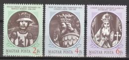 Ungarn 3956/58A ** Postfrisch Ungarische Könige - Ungebraucht