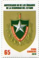 Lote CU2019-12, Cuba, 2019, Sello, Stamp, Aniv 80 De Los Organos De Seguridad Del Estado, State Security, Secret Police - Other