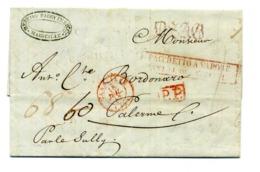 MARSIGLIA 15/07/1843 Transito Napoli 23/07/1843 Per Palermo 25/07/1843 - Pacchetto A Vapore - 1. ...-1850 Prephilately