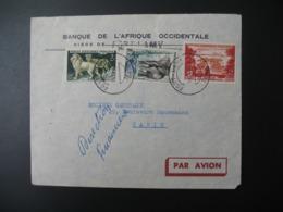 Enveloppe  Tchad 1960  Banque De L'Afrique Occidentalesiège Fort Lamy   Pour La Sté Générale En France Bd Haussmann - Tsjaad (1960-...)