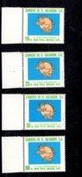 1974 SCOTT 854 855 C356 C357 POSTFRIS MINT NEVER HINGED EINWANDFREI (XX) UPU CENTENAIRE - Salvador