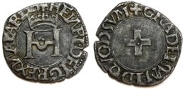 ROYAUME DE NAVARRE - Henri D'Albret [1516-1555] - Liard (0,85 G) - 476-1789 Monnaies Seigneuriales
