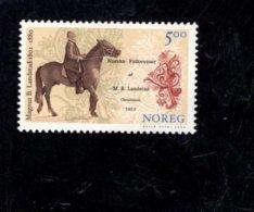 2002 SCOTT 1348 POSTFRIS MINT NEVER HINGED EINWANDFREI (XX) PASTOR MAGNUS B LANDSTAD WRITER AND FOLK SONG COLLECTOR - Norvège