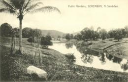 Malay Malaysia, SEREMBAN, N. Sembilan, Public Gardens (1910s) Postcard - Malaysia