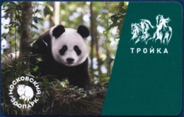 RUSSIA - RUSSIE MOSCOW TRANSPORTATION CARD - TROIKA - ALL TYPES OF PUBLIC TRANSPORT - FAUNA ANIMALS PANDA MOSCOW ZOO - Otros