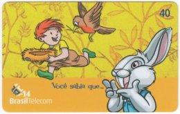 BRASIL J-362 Magnetic BrasilTelecom - Cartoon, Animal, Rabbit - Used - Brasilien