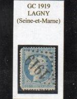 Seine-et-Marne - N° 60A (déf) Obl GC 1919 Lagny - 1871-1875 Cérès
